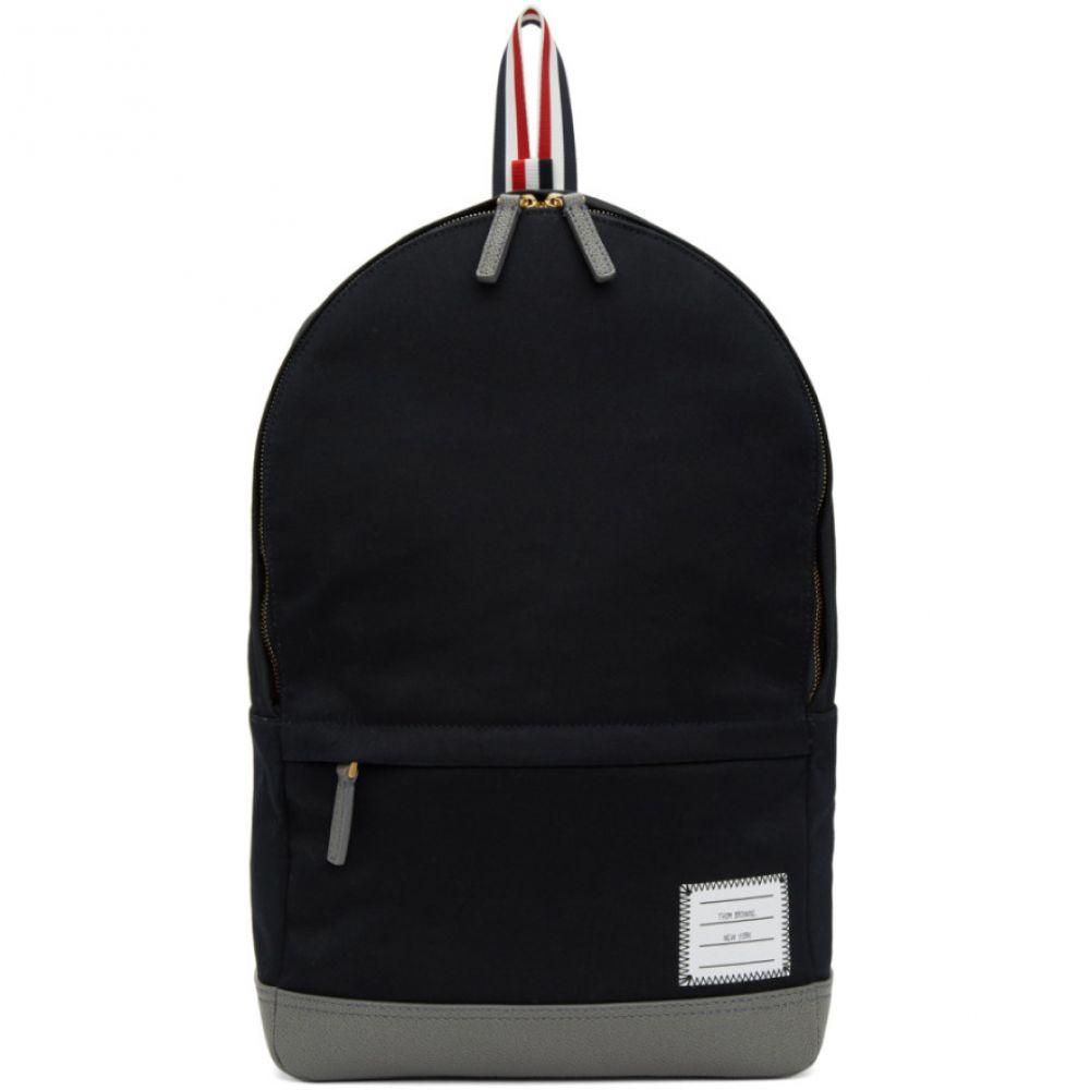 トム ブラウン Thom Browne メンズ バッグ バックパック・リュック【Navy Unstructured Backpack】