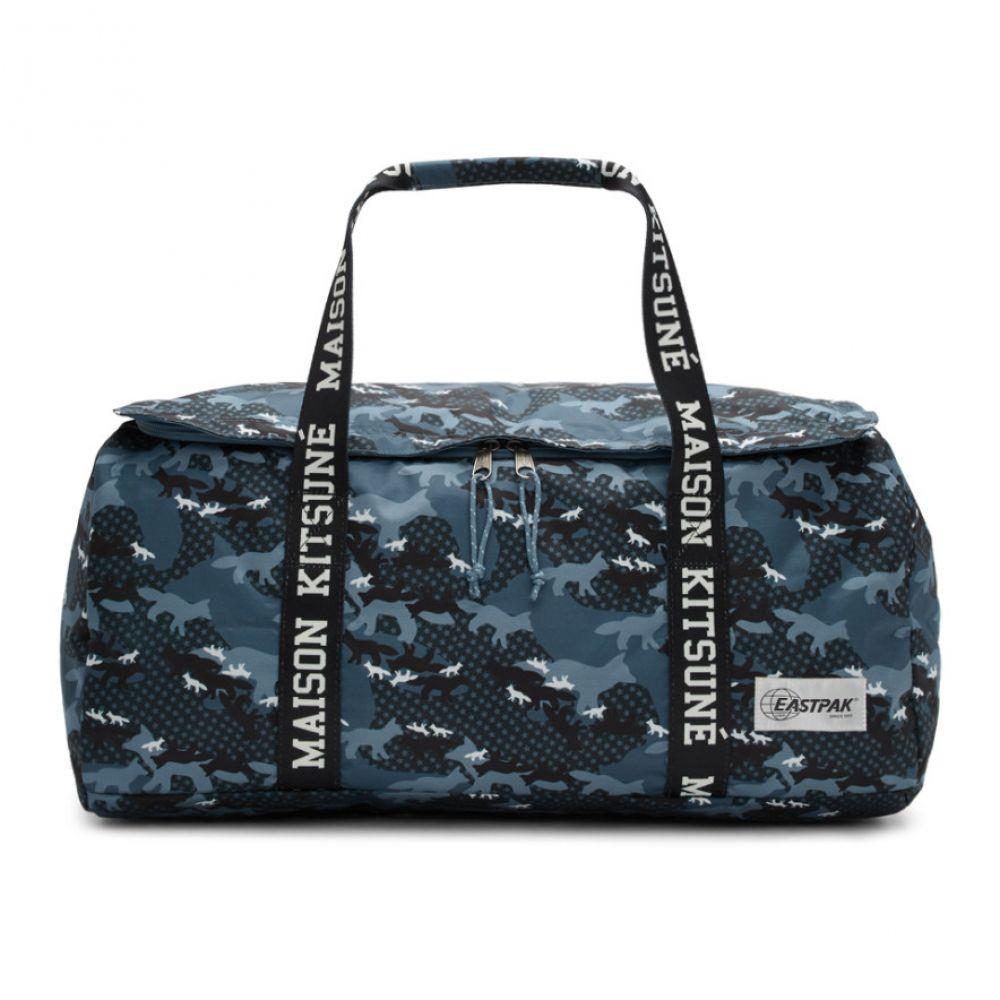 メゾン キツネ Maison Kitsune メンズ バッグ ボストンバッグ・ダッフルバッグ【Blue Eastpak Edition Camouflage Perce Duffle Bag】