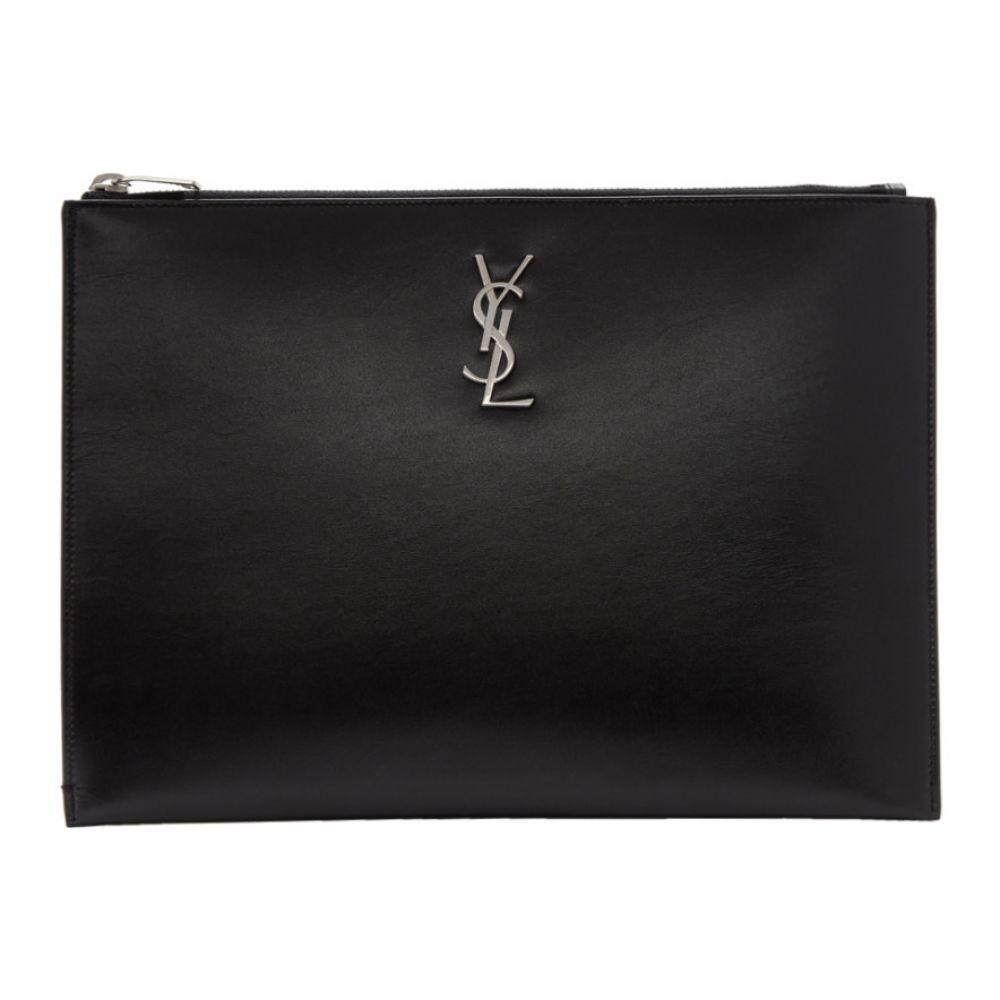 イヴ サンローラン Saint Laurent メンズ タブレットケース【Black Monogramme Tablet Pouch】