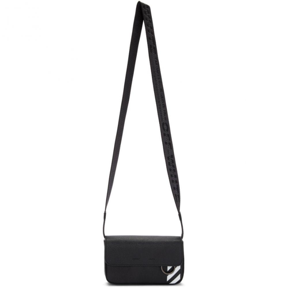 オフ-ホワイト Off-White メンズ バッグ メッセンジャーバッグ【Black Crossbody Messenger Bag】