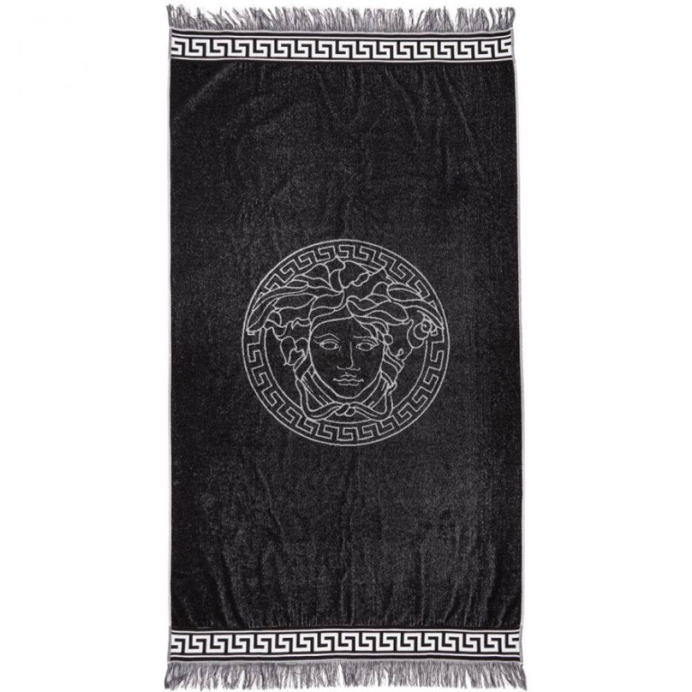 ヴェルサーチ Versace Underwear メンズ タオル【White & Black Medusa Towel】