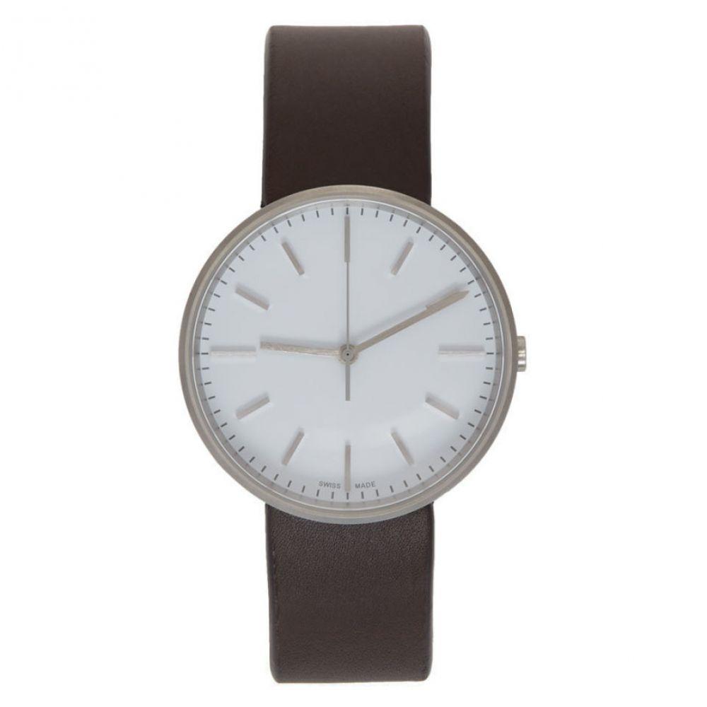 ユニフォーム ウェアーズ Uniform Wares メンズ 腕時計【Brown & White Leather M37 Watch】