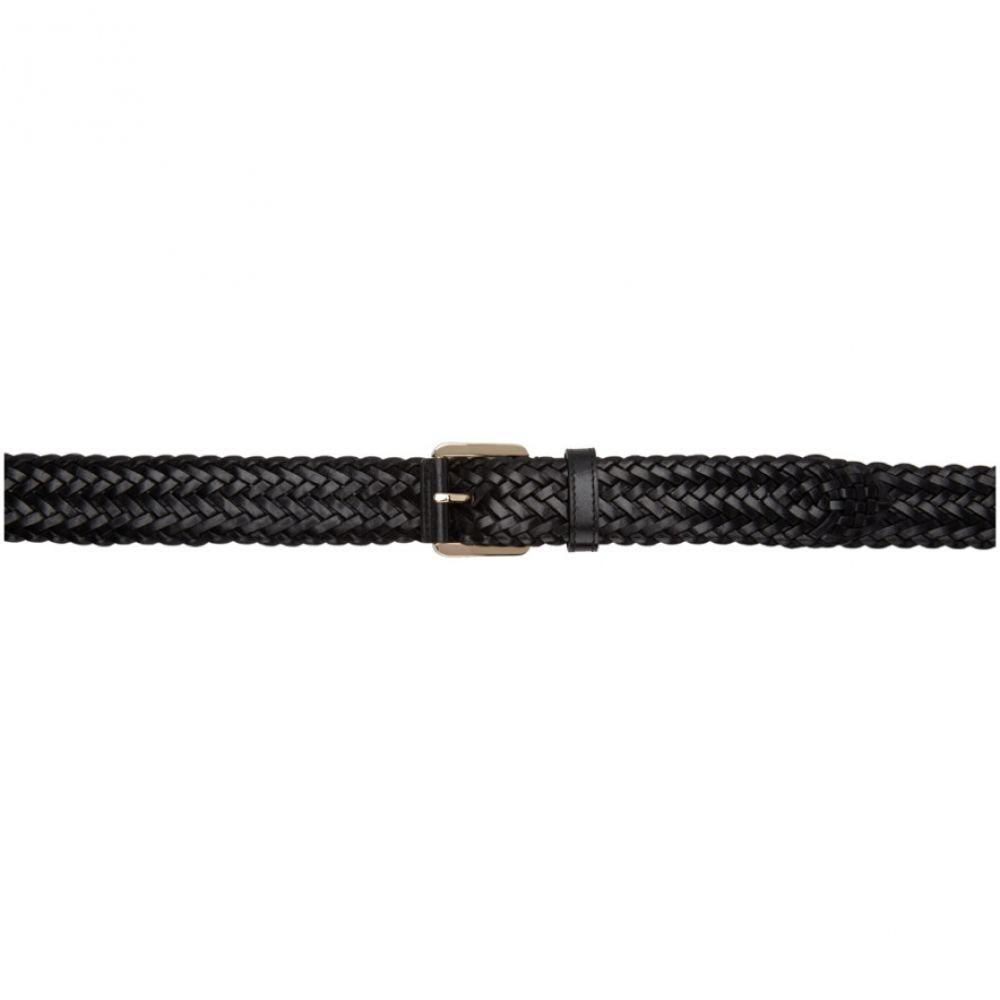 ブリオーニ Brioni メンズ ベルト【Black Woven Leather Belt】