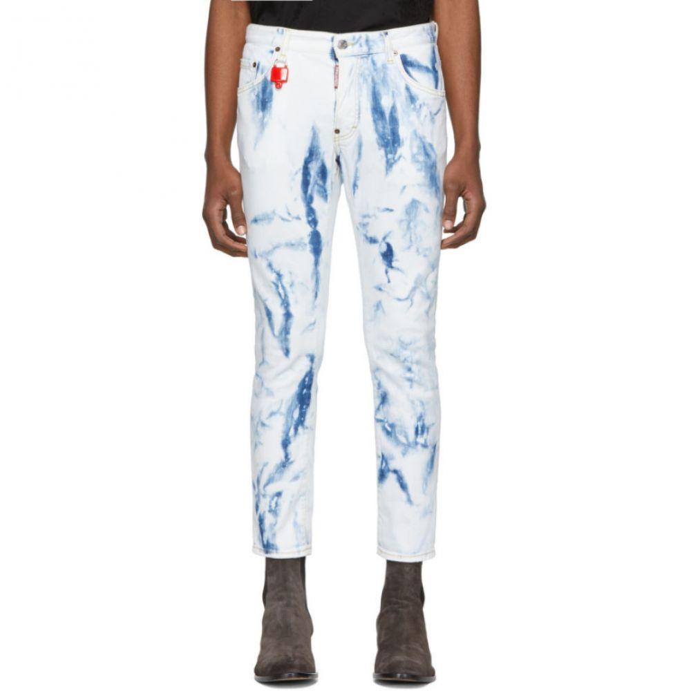 ディースクエアード Dsquared2 メンズ スケートボード ボトムス・パンツ【Blue Bleached Skater Jeans】