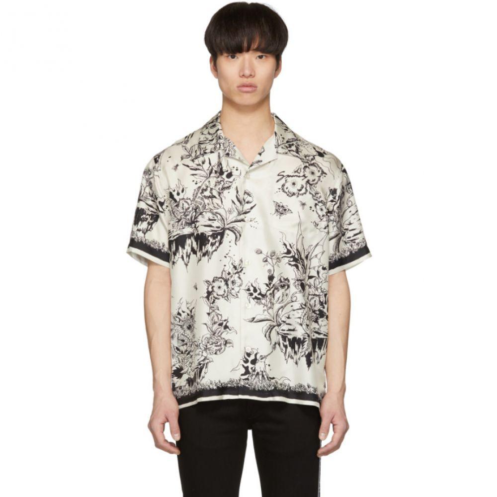 ジバンシー Givenchy メンズ トップス シャツ【White & Black Monster Silk Hawaiian Shirt】