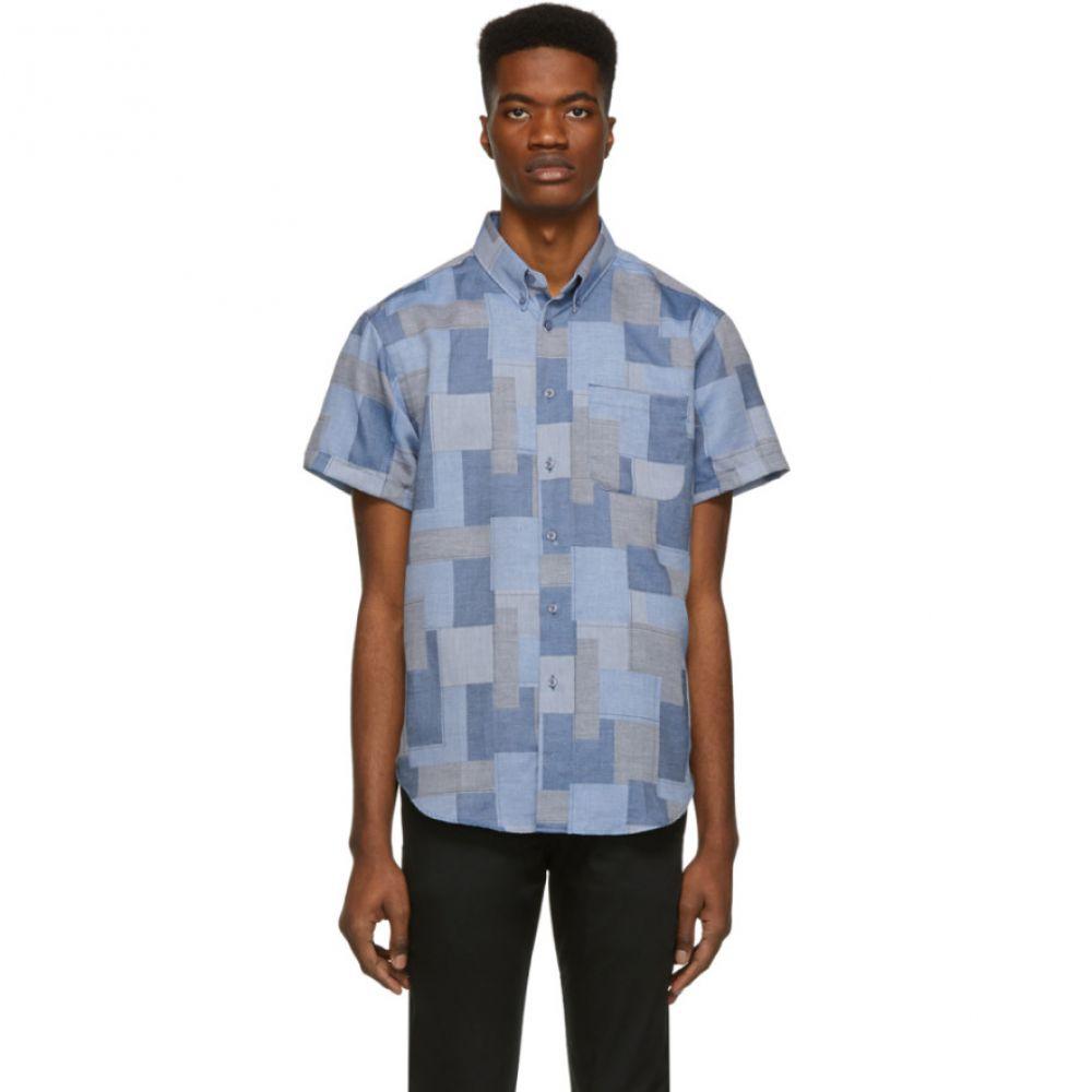 ネイキッド アンド フェイマス Naked & Famous Denim メンズ トップス シャツ【Blue Jacquard Abstract Blocks Shirt】