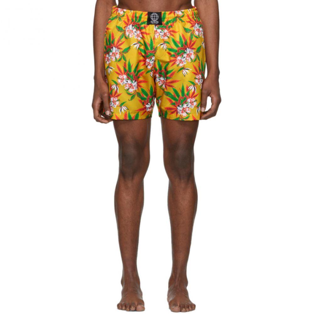 トリプルエス ワールド コープ SSS World Corp メンズ 水着・ビーチウェア 海パン【Yellow Weed Hibiscus Swim Shorts】