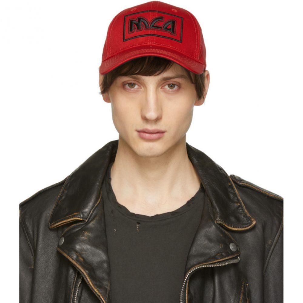 アレキサンダー マックイーン McQ Alexander McQueen メンズ 帽子 キャップ【Red Embroidered Metal Logo Cap】
