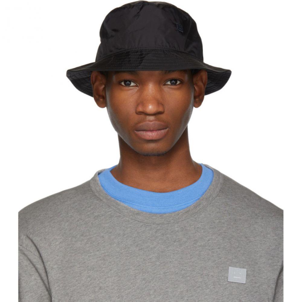 アクネ ストゥディオズ Acne Studios メンズ 帽子 ハット【Black Buk Face Tech Bucket Hat】