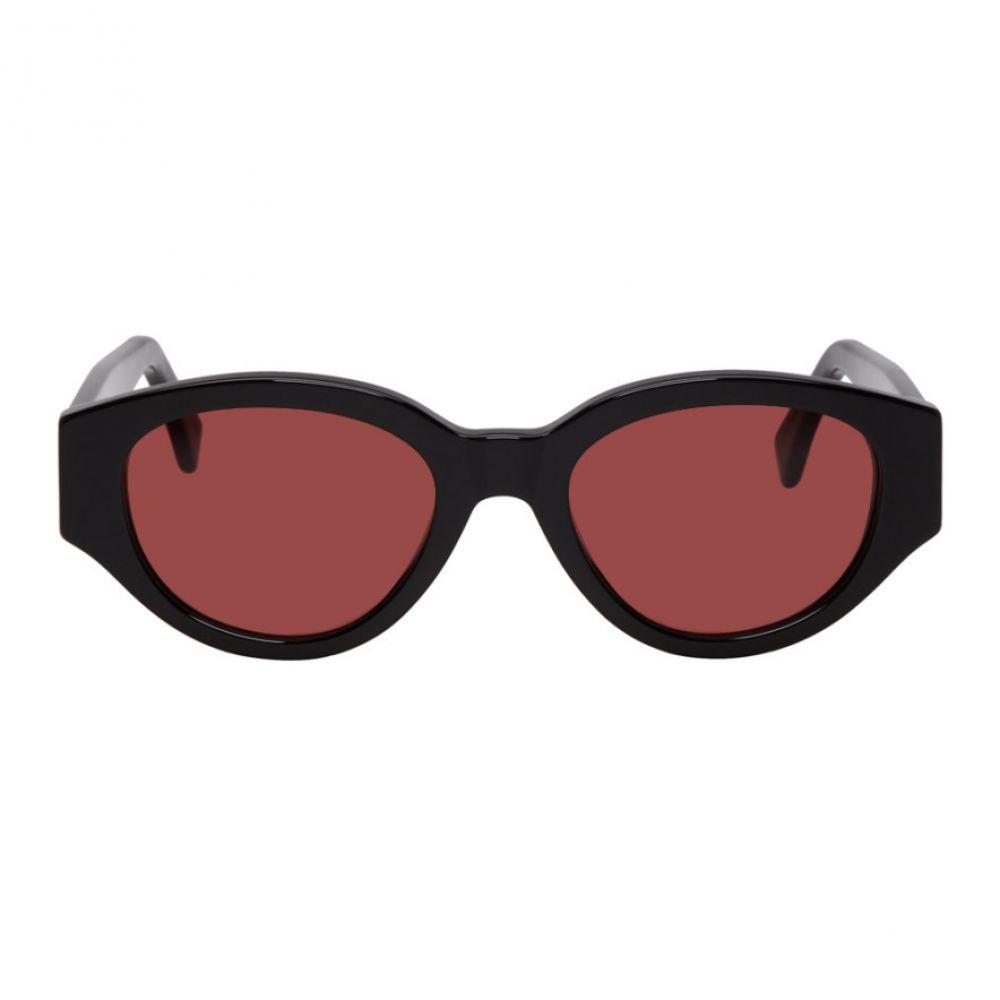 スーパー Super メンズ メガネ・サングラス【Black & Red Drew Mama Sunglasses】