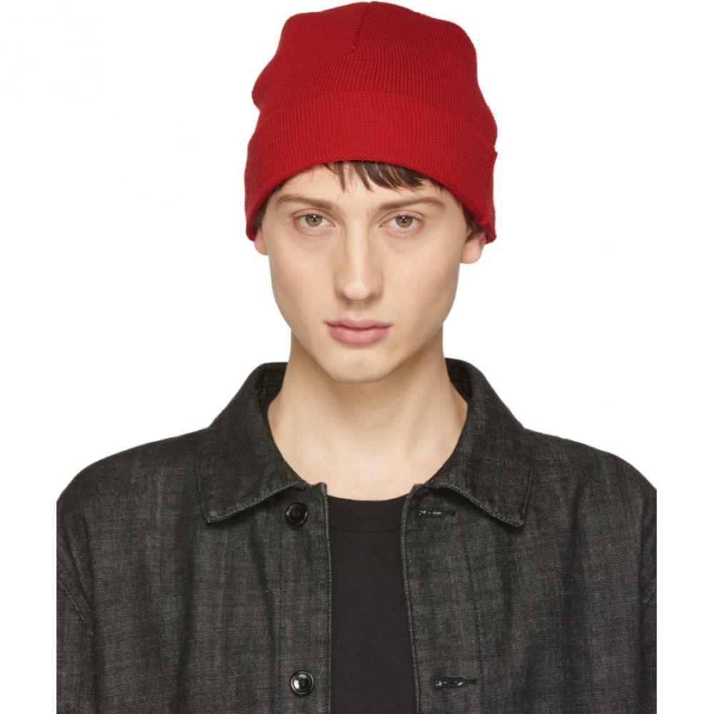 アミアレクサンドルマテュッシ AMI Alexandre Mattiussi メンズ 帽子 ニット【Red Knit Beanie】