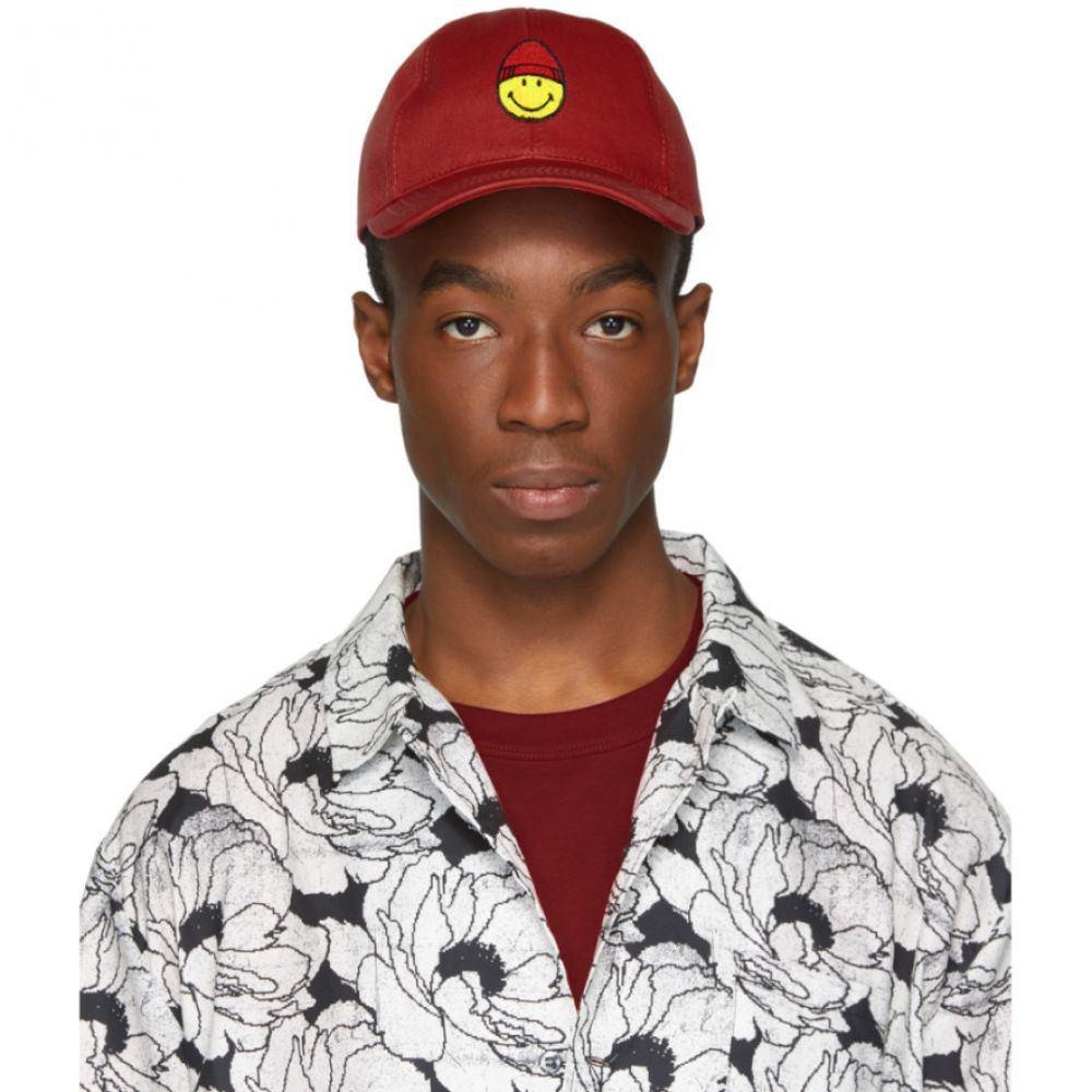 アミアレクサンドルマテュッシ AMI Alexandre Mattiussi メンズ 帽子 キャップ【Red Smiley Edition Patch Cap】