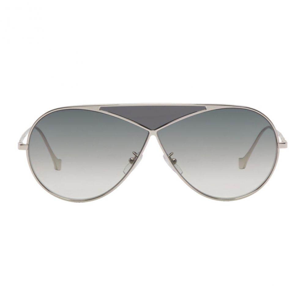 ロエベ Loewe メンズ メガネ・サングラス【Silver Pilot Puzzle Sunglasses】