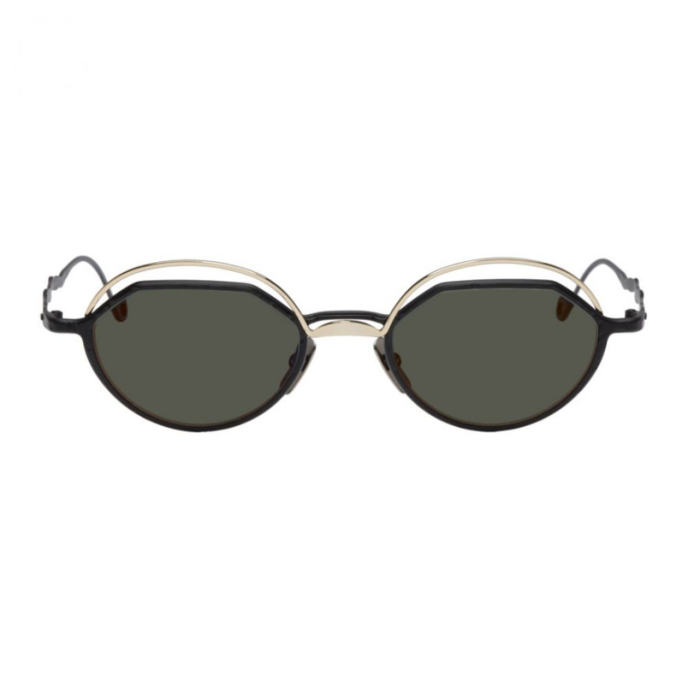 クボラム Kuboraum メンズ メガネ・サングラス【Black & Gold H70 Sunglasses】