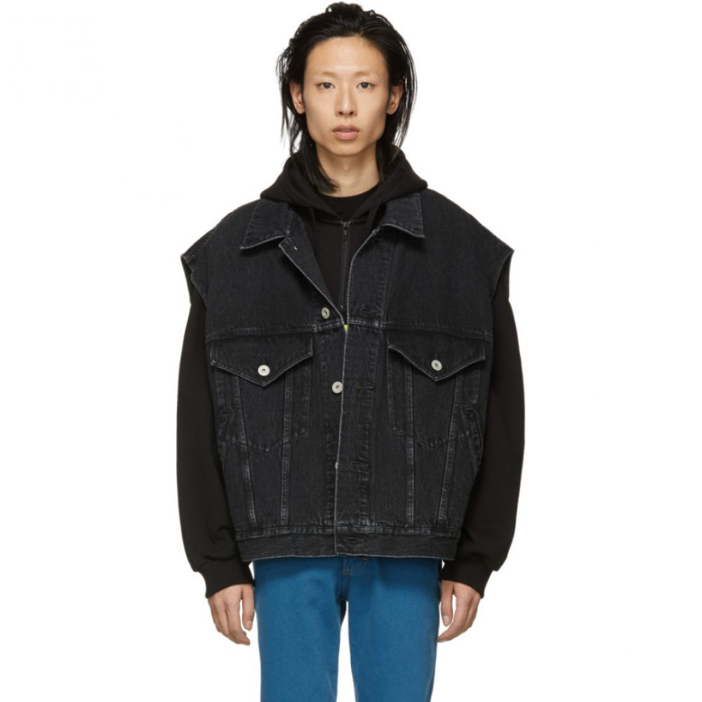 タブレット Doublet メンズ トップス ベスト・ジレ【Black Denim Silk 3D Tiger Vest】