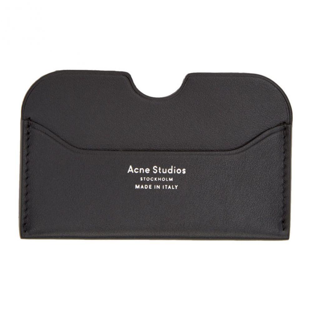 アクネ ストゥディオズ Acne Studios メンズ カードケース・名刺入れ【Black Elmas S Card Holder】