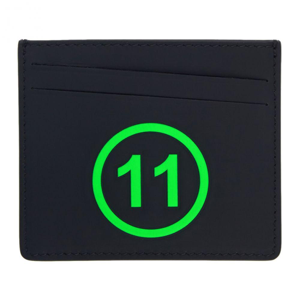 メゾン マルジェラ Maison Margiela メンズ カードケース・名刺入れ【Black & Green '11' Card Holder】