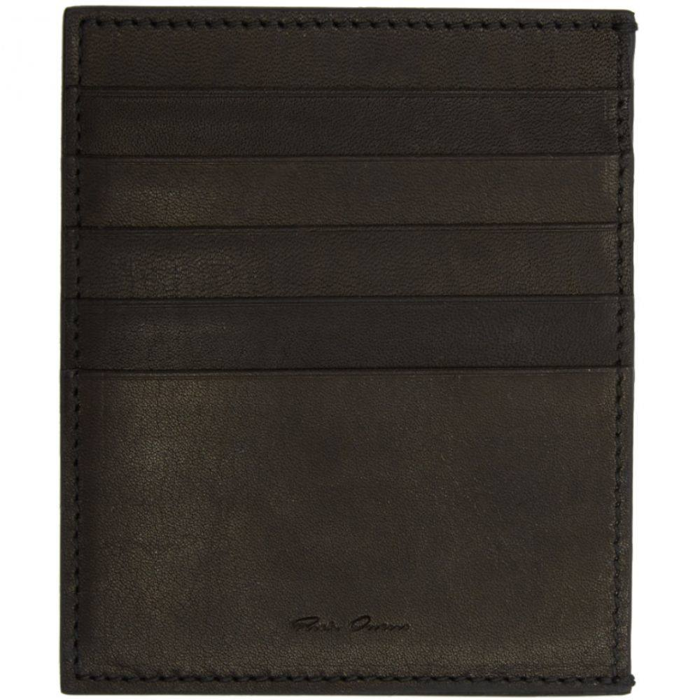 リック オウエンス Rick Owens メンズ カードケース・名刺入れ【Black Leather Card Holder】