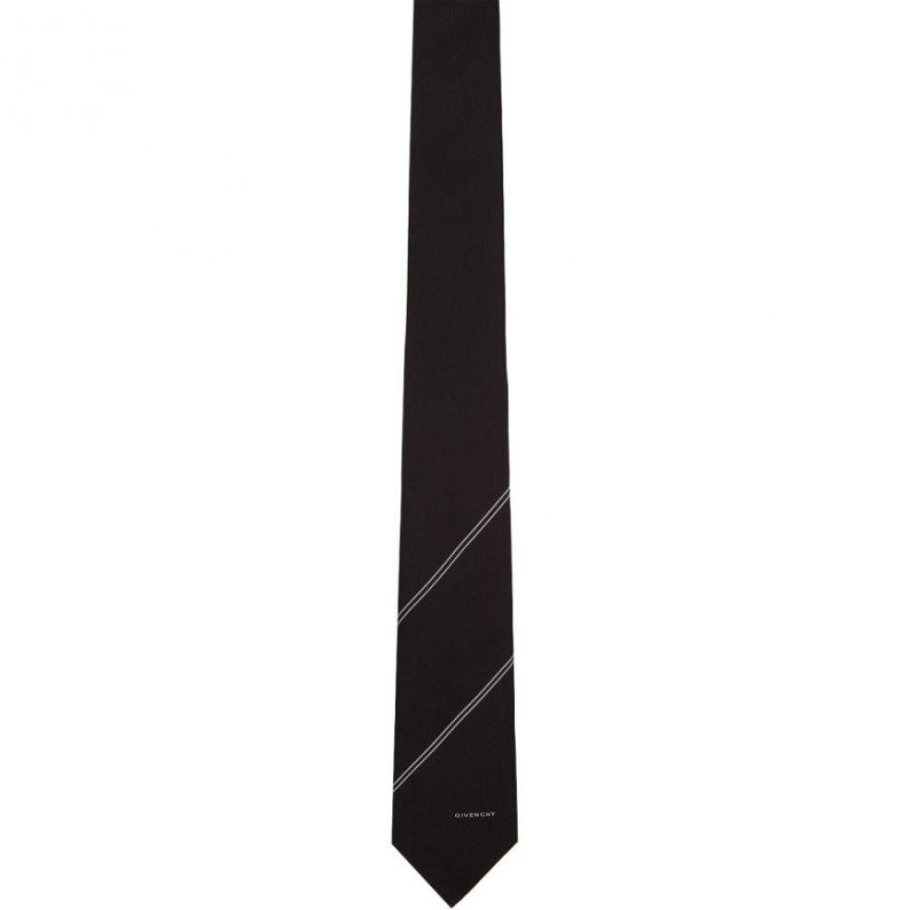 ジバンシー Givenchy メンズ ネクタイ【Black Diagonal Stripe Tie】