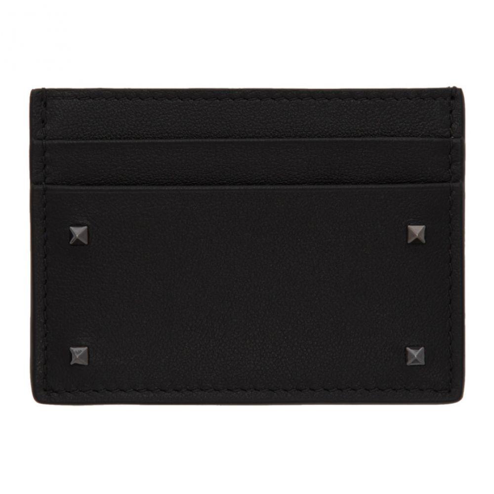 ヴァレンティノ Valentino メンズ カードケース・名刺入れ【Black Garavani Mini Rockstud Card Holder】
