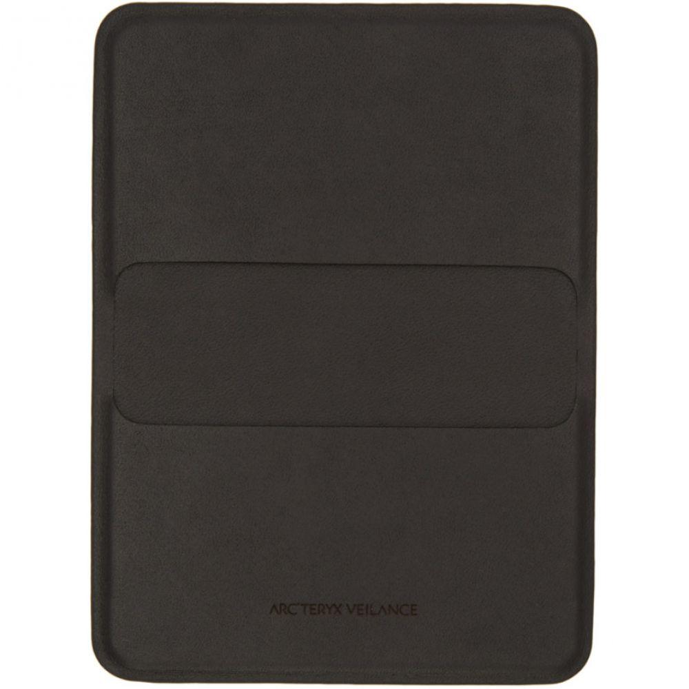 アークテリクス Arc'teryx Veilance メンズ カードケース・名刺入れ【Black Leather Casing Card Holder】