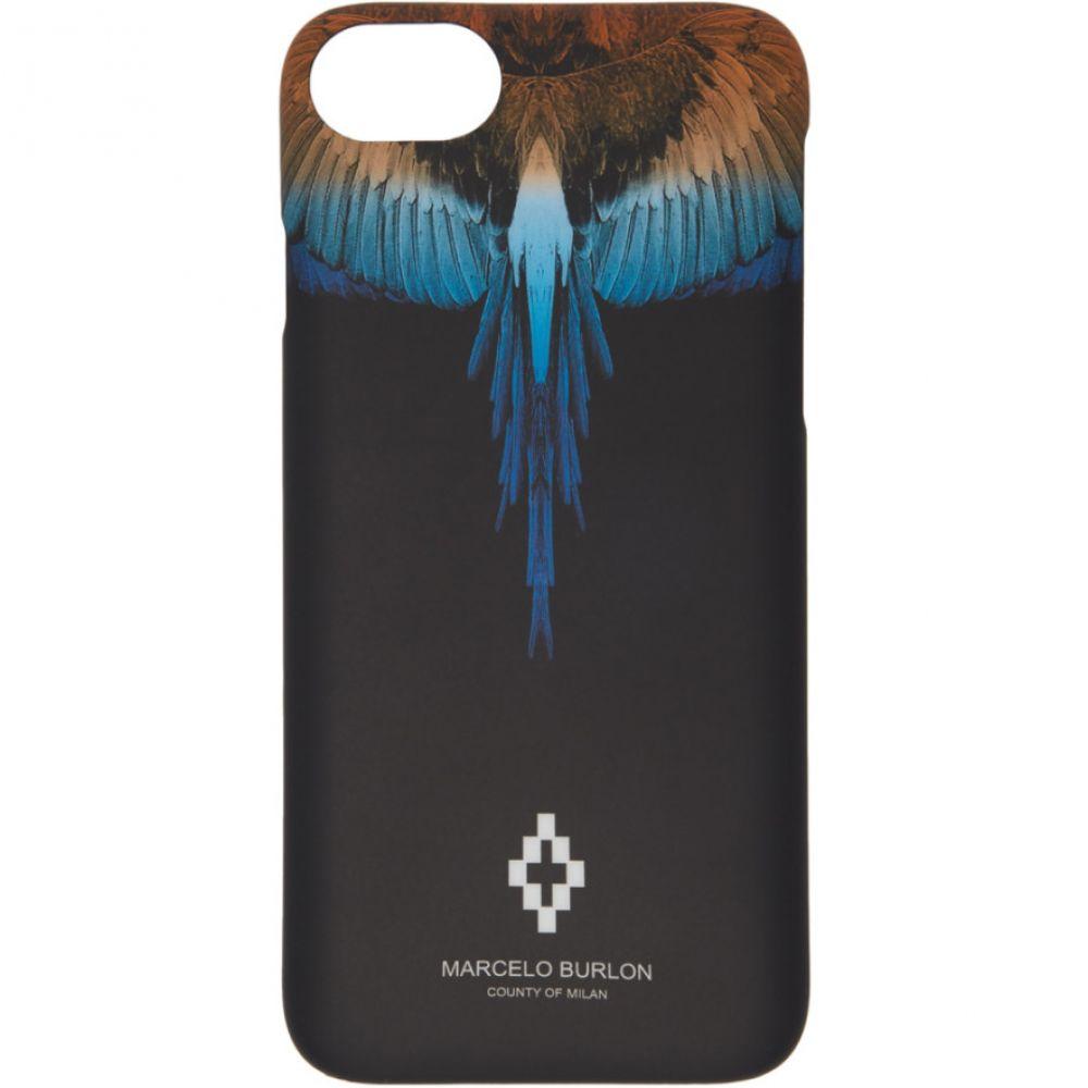 マルセロバーロン Marcelo Burlon County of Milan メンズ iPhone (8)ケース【Black Wings iPhone 8 Case】