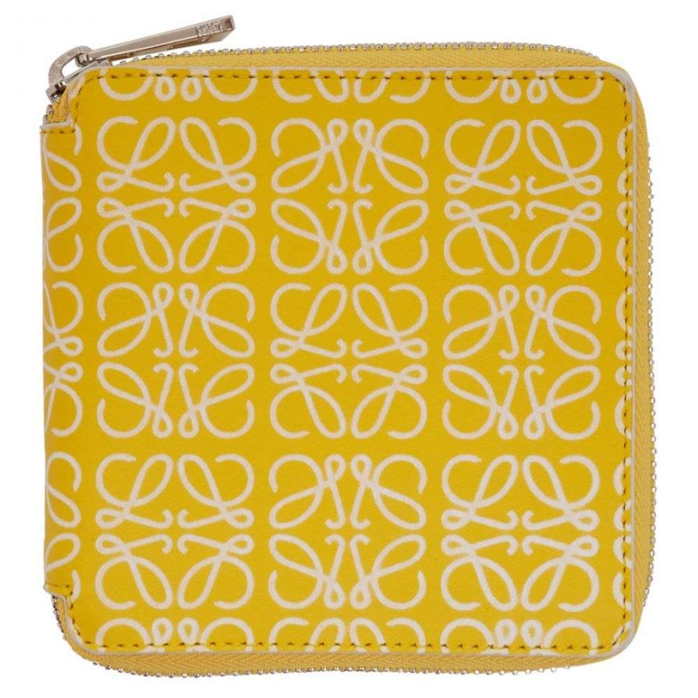 ロエベ Loewe メンズ 財布【Yellow & White Square Zip Wallet】