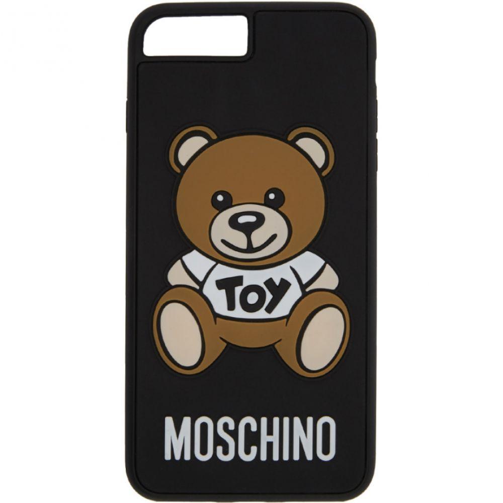 モスキーノ Moschino メンズ iPhone (8)ケース【Black 'Toy' Teddy Bear iPhone 7/8 Case】
