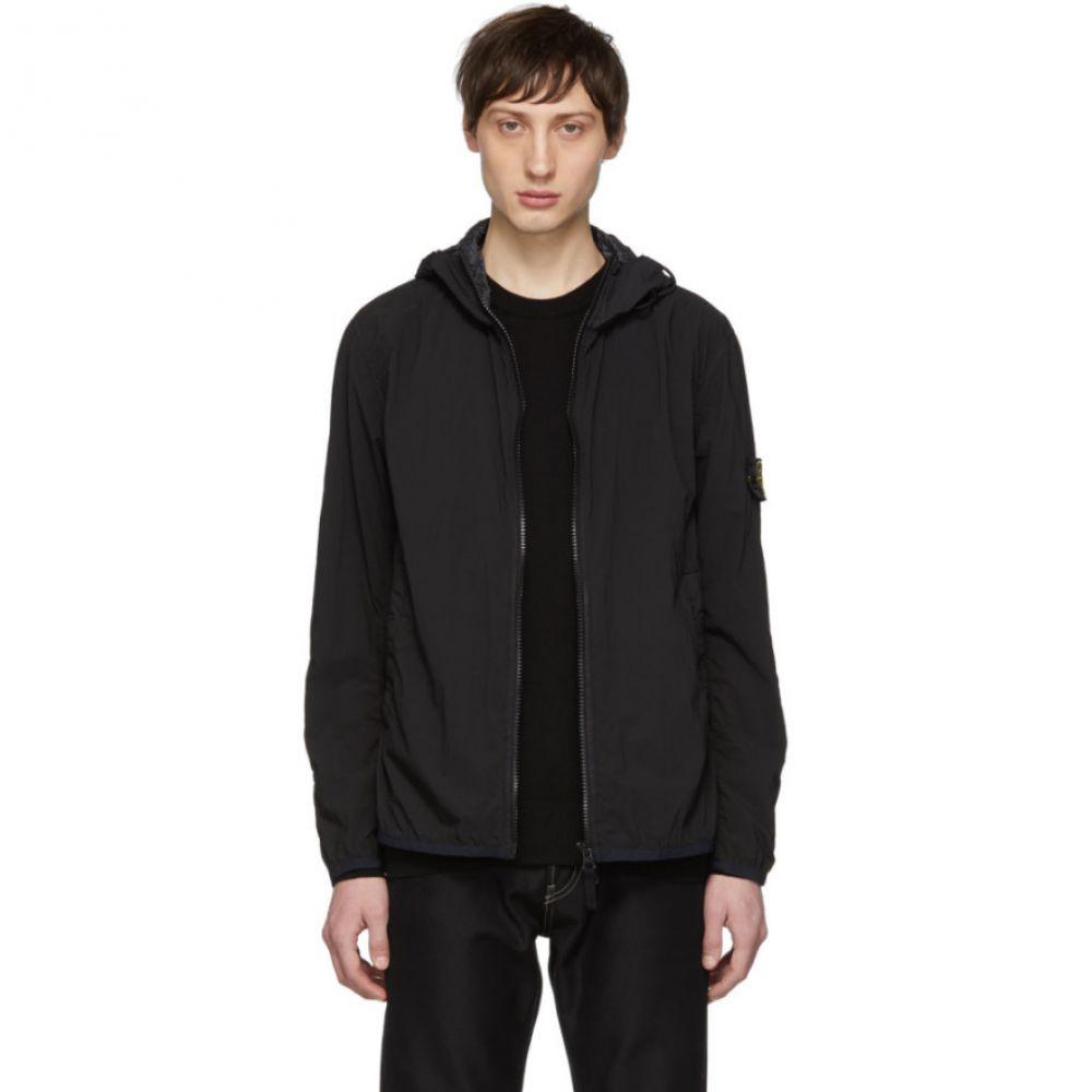ストーンアイランド Stone Island メンズ アウター レインコート【Black Nylon Rain Jacket】