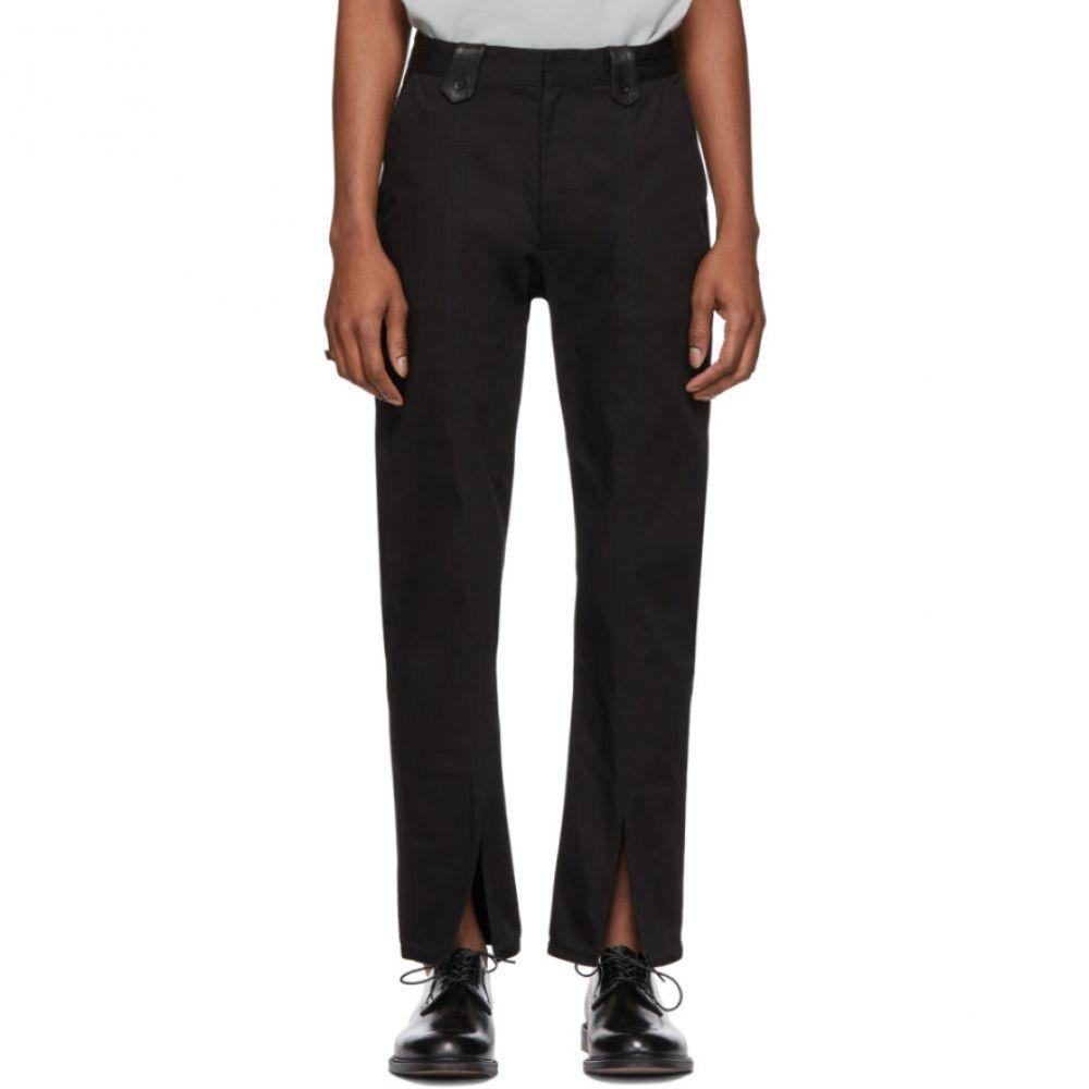 セント アンリ St-Henri メンズ ボトムス・パンツ【SSENSE Exclusive Black Order Pants】