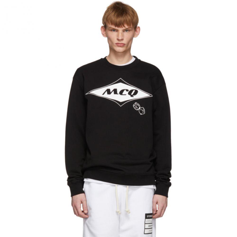 アレキサンダー マックイーン McQ Alexander McQueen メンズ トップス スウェット・トレーナー【Black Logo Sweatshirt】