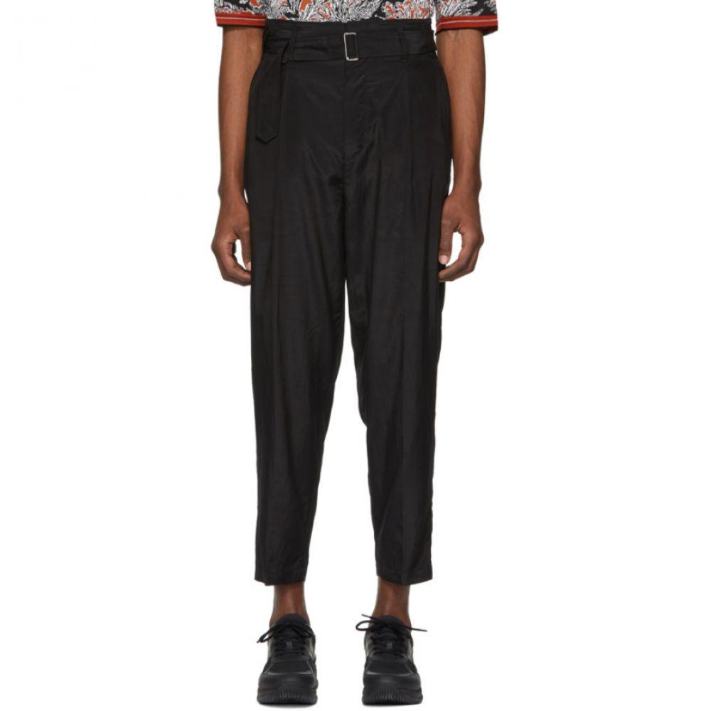 スリーワン フィリップ リム 3.1 Phillip Lim メンズ ボトムス・パンツ クロップド【Black Cropped Belted Trousers】