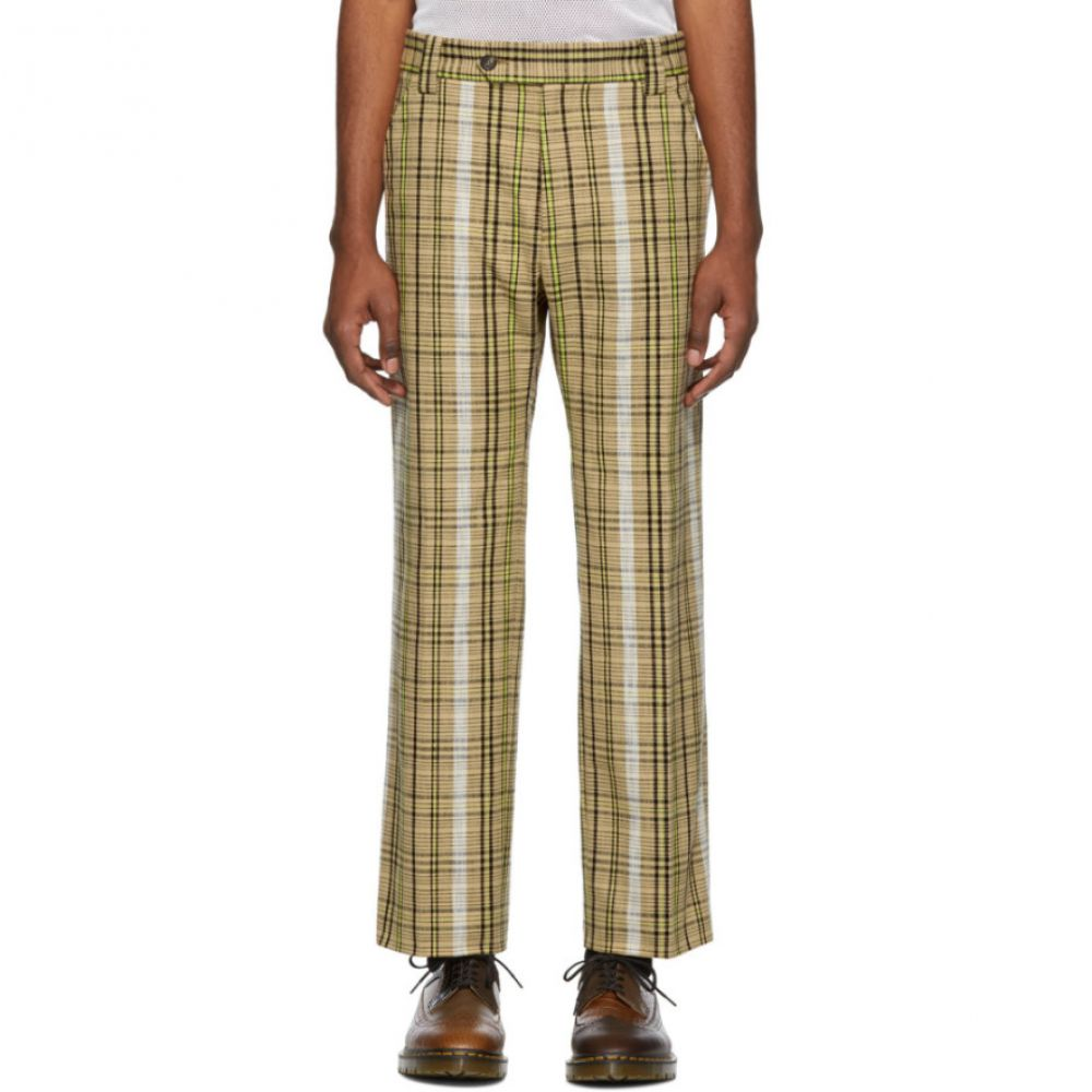 ケンゾー Kenzo メンズ ボトムス・パンツ【Beige Cotton Check Trousers】