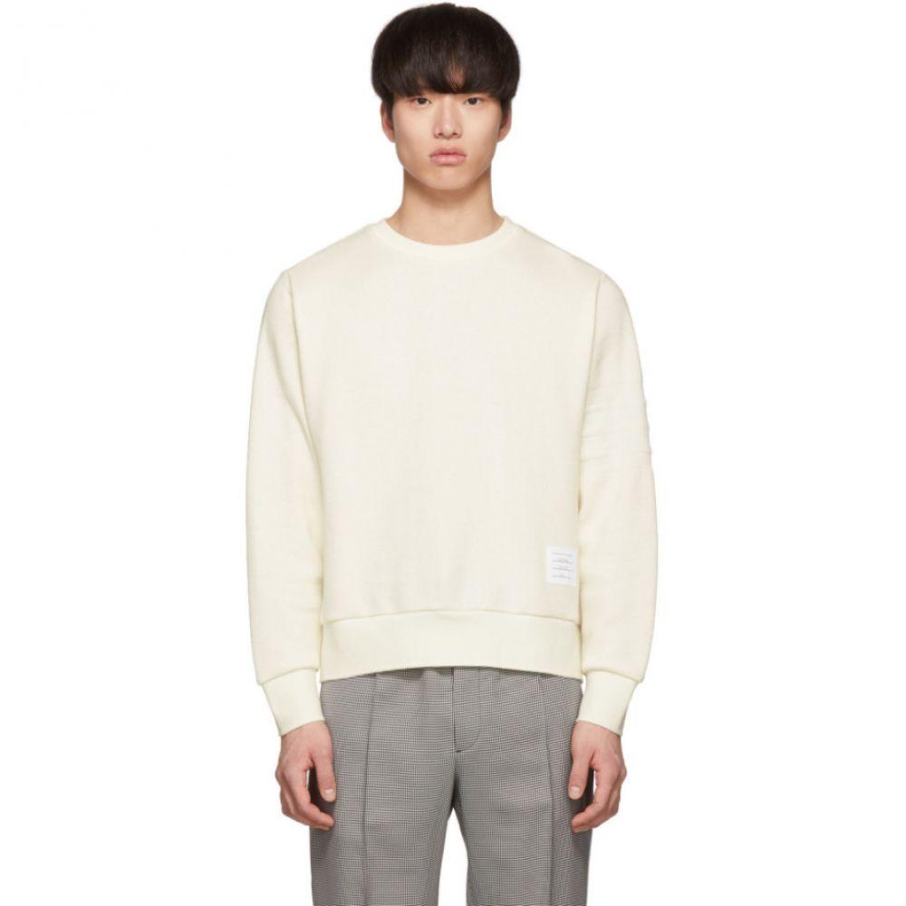 トム ブラウン Thom Browne メンズ トップス スウェット・トレーナー【Off-White Chunky Honeycomb Pique 4-Bar Sweatshirt】
