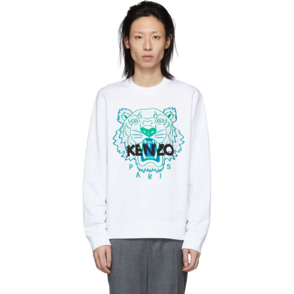 ケンゾー Kenzo メンズ トップス スウェット・トレーナー【White Tiger Sweatshirt】