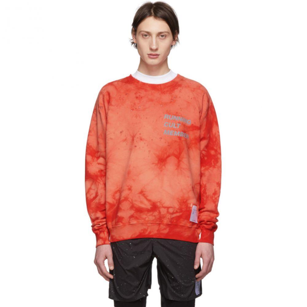 サティスフィ Satisfy メンズ トップス スウェット・トレーナー【Red 'Cult' Moth Eaten Sweatshirt】