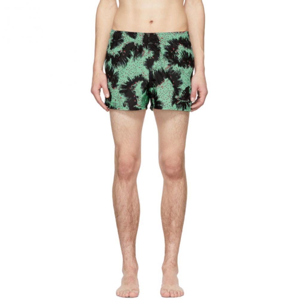 ジバンシー Givenchy メンズ 水着・ビーチウェア 海パン【Black & Green Printed Swim Shorts】
