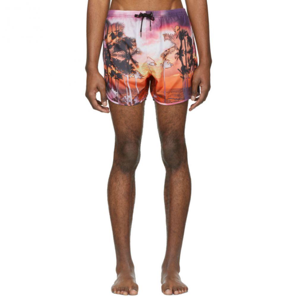 ニール バレット Neil Barrett メンズ 水着・ビーチウェア 海パン【Pink Palm Swim Shorts】