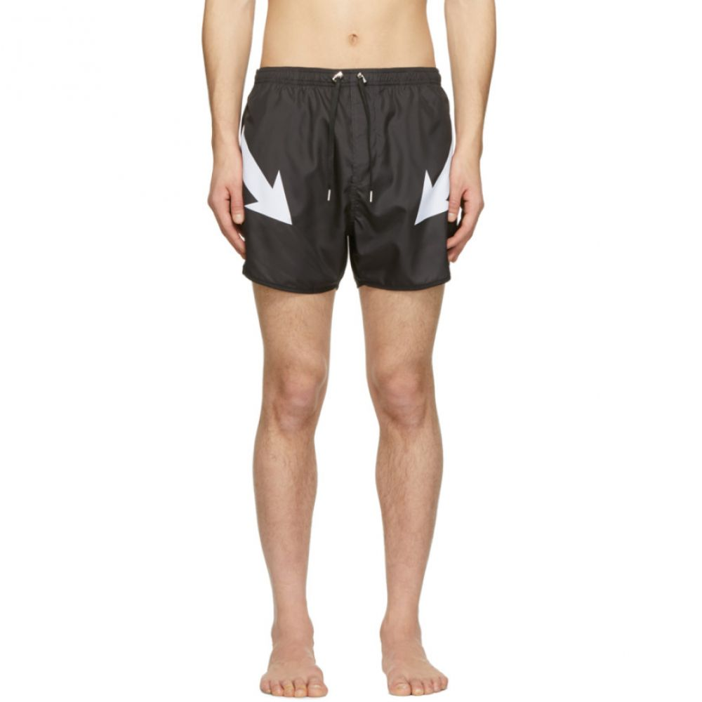 ニール バレット Neil Barrett メンズ 水着・ビーチウェア 海パン【Black Arrow Swim Shorts】