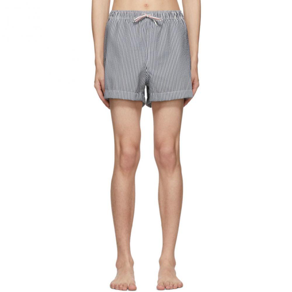トム ブラウン Thom Browne メンズ 水着・ビーチウェア 海パン【Navy & White Seersucker Drawcord Waist Swim Shorts】