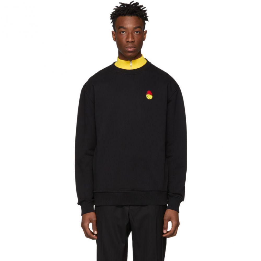 アミアレクサンドルマテュッシ AMI Alexandre Mattiussi メンズ トップス スウェット・トレーナー【Black Smiley Edition Patch Sweatshirt】
