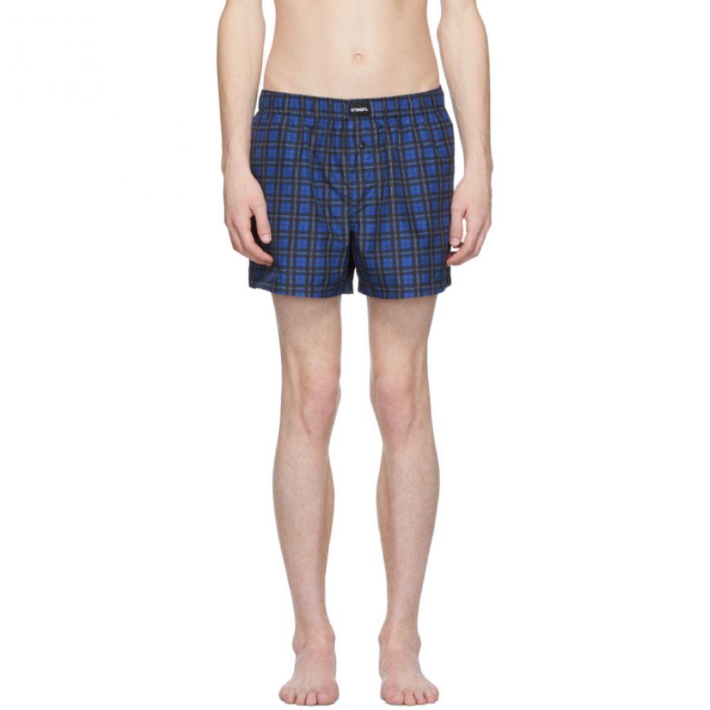 ヴェトモン Vetements メンズ 水着・ビーチウェア 海パン【Blue Check Swim Shorts】