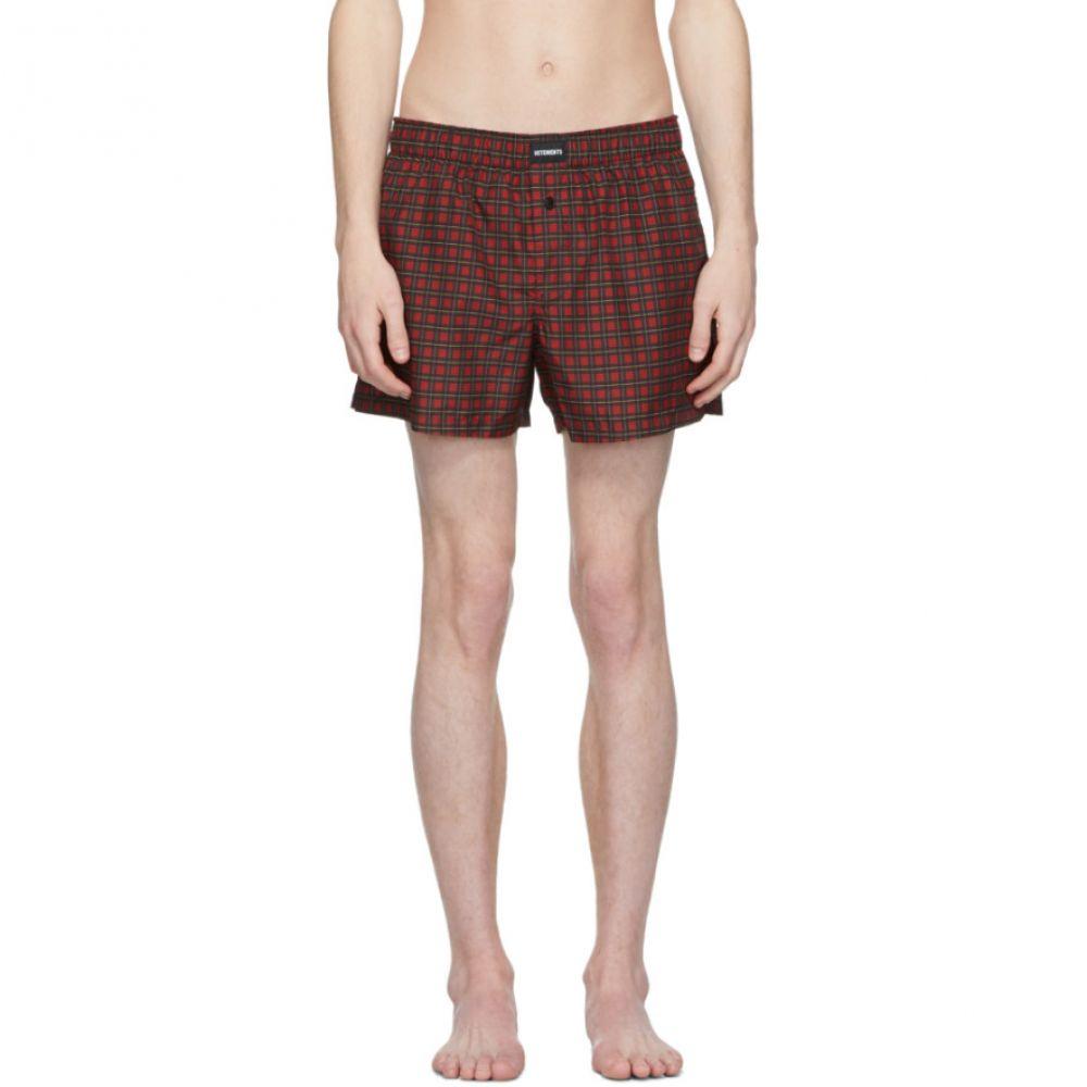 ヴェトモン Vetements メンズ 水着・ビーチウェア 海パン【Red Check Swim Shorts】