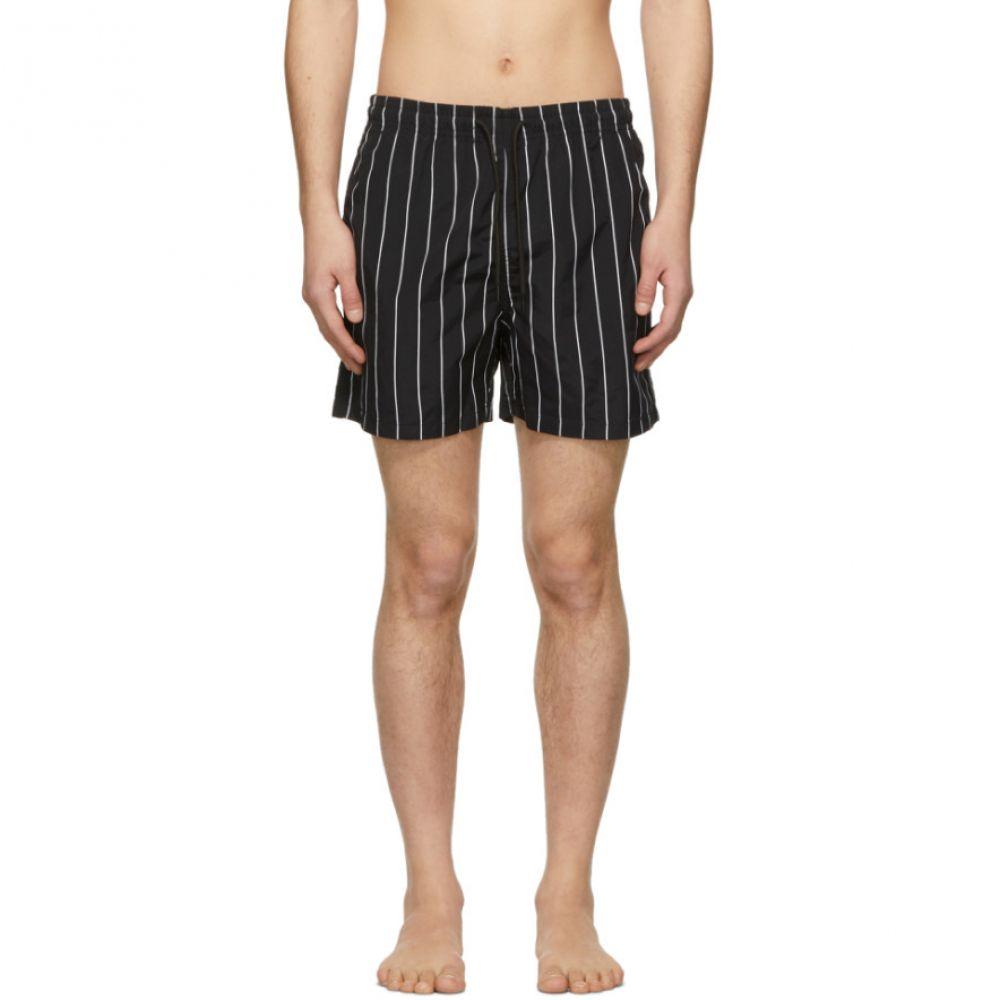 ソリッド&ストライプ Solid & Striped メンズ 水着・ビーチウェア 海パン【Black & White Classic Swim Shorts】