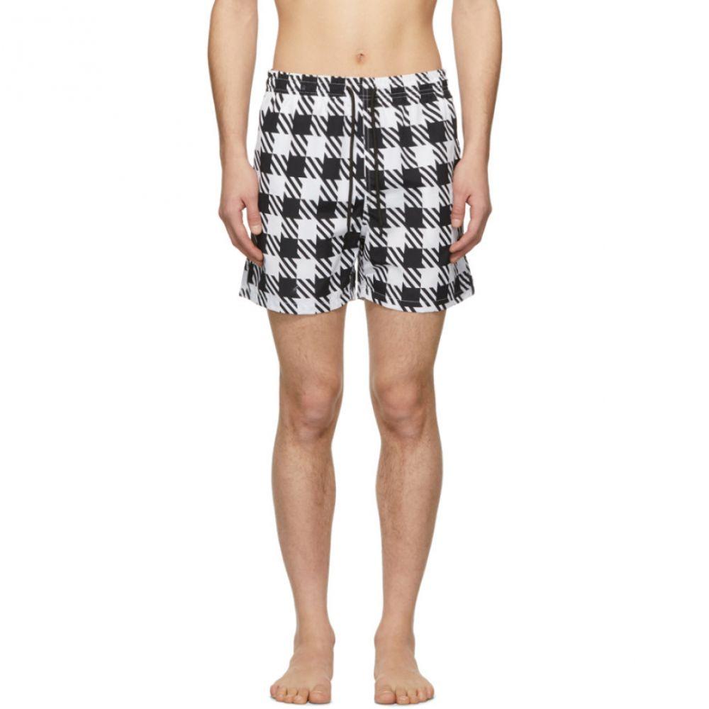 ソリッド&ストライプ Solid & Striped メンズ 水着・ビーチウェア 海パン【Black & White Classic Gingham Swim Shorts】