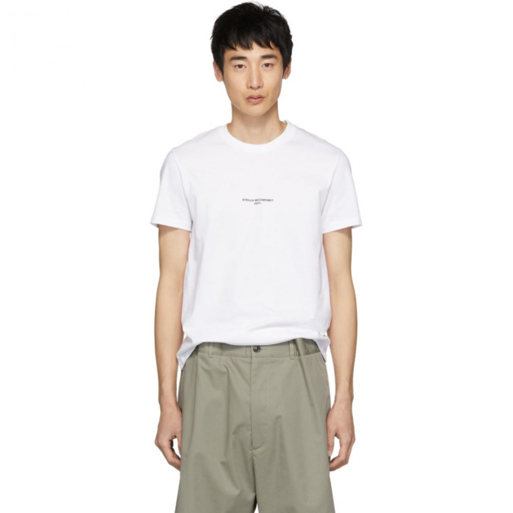 ステラ マッカートニー Stella McCartney メンズ トップス Tシャツ【White '2001.' T-Shirt】