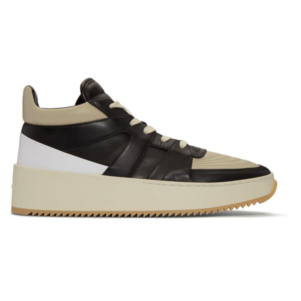 フィアオブゴッド Fear of God メンズ バスケットボール シューズ・靴【Grey & Black Basketball Mid-Top Sneakers】