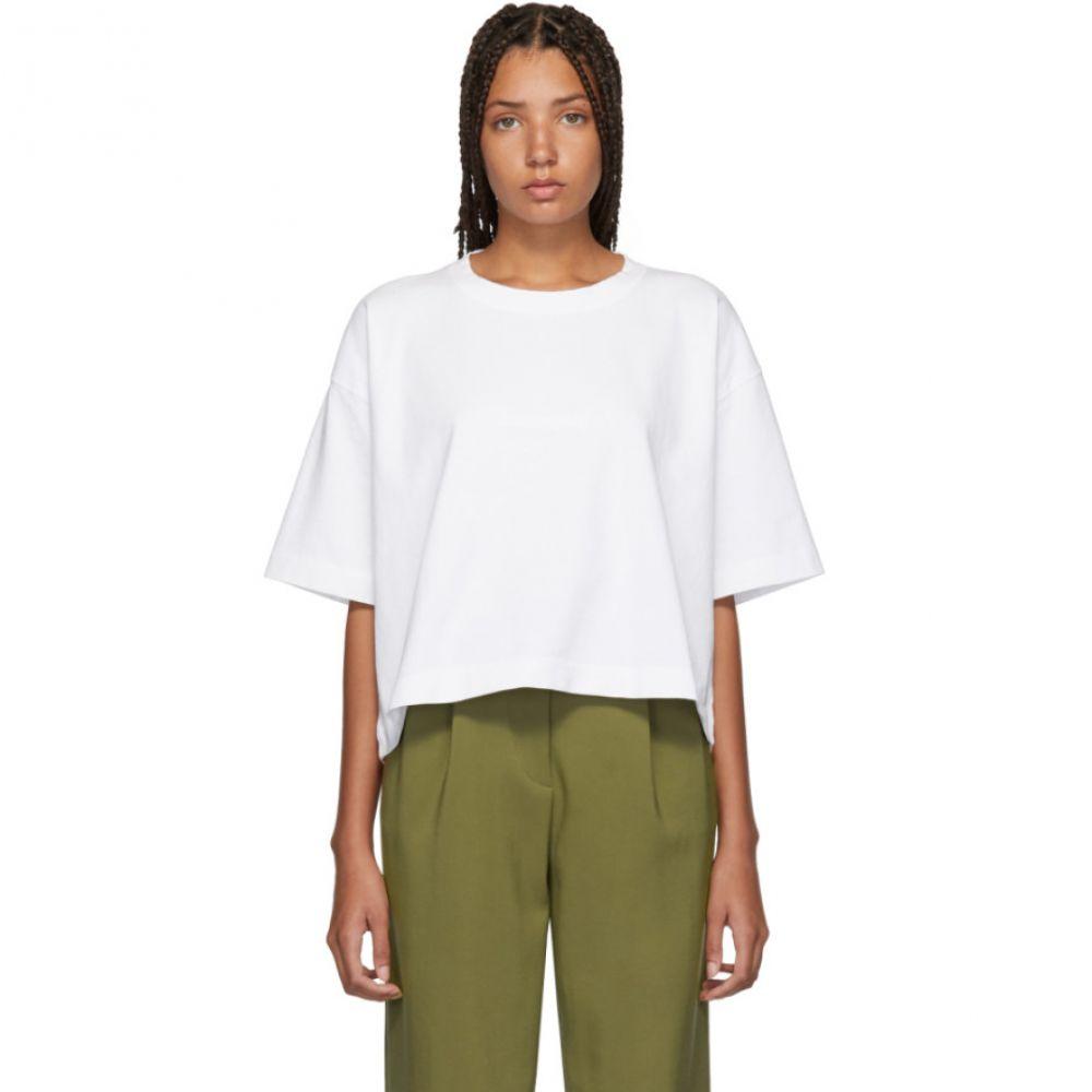 アクネ ストゥディオズ Acne Studios レディース トップス Tシャツ【White Embossed Logo Cylea T-Shirt】