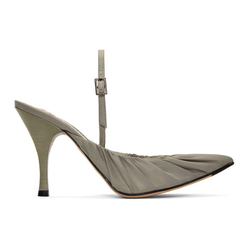 アクネ ストゥディオズ Acne Studios レディース シューズ・靴 ヒール【Grey Beatrice Slingback Heels】