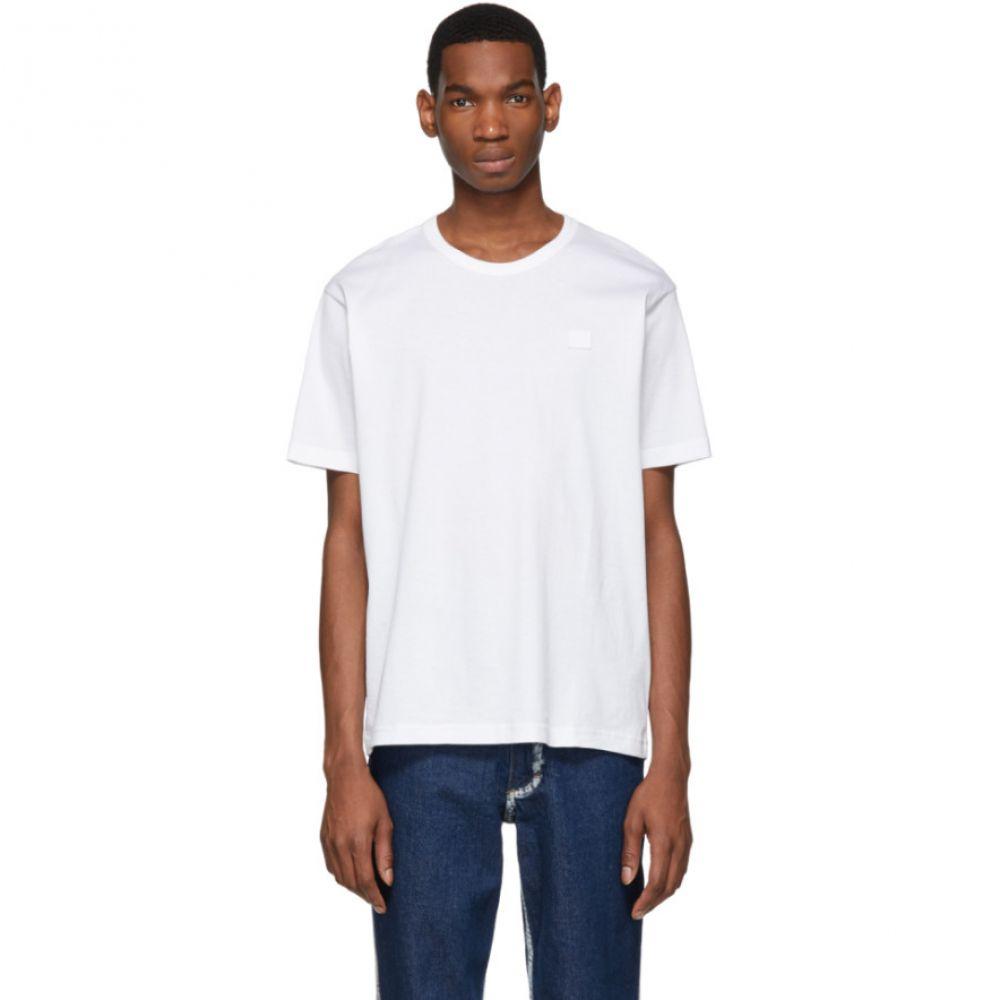 アクネ ストゥディオズ Acne Studios メンズ トップス Tシャツ【White Nash Face T-Shirt】